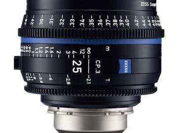 Rentals: Zeiss Cine Objektiv 25mm T2.1 EF