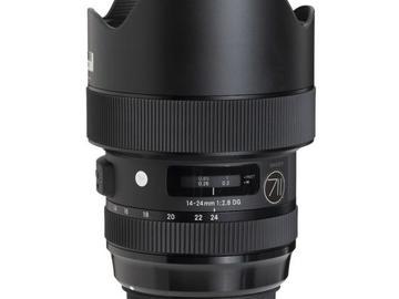 Rentals: Canon Lens Sigma Art 14-24mm 2,8 DG HSM