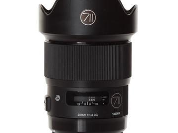 Rentals: Canon Lens Sigma Art 20mm 1,4 DG HSM
