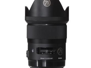 Rentals: Canon Lens Sigma Art 35mm 1,4 DG