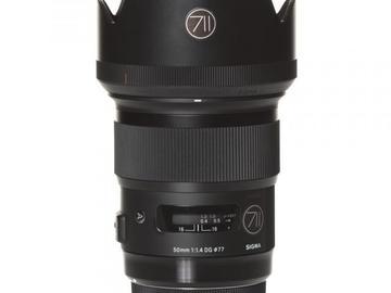 Rentals: Canon Lens Sigma Art 50mm 1,4 DG