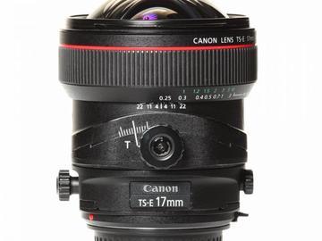 Rentals: Canon Lens TSE 17mm 4,0 Shift L