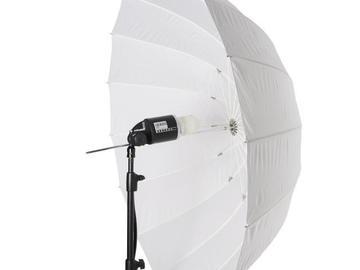 Rentals: Umbrella 130cm Deep transparent L