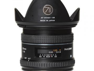 Rentals: Phase One Lens  35mm 3,5 AF