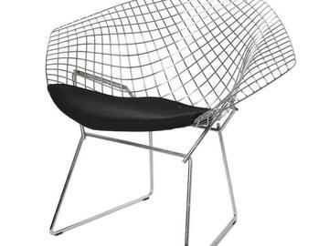 """Rentals: Chair """"Knoll Agata"""" silver"""