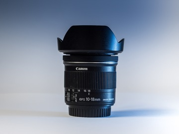Rentals: Super Wide 10-18mm f/4.5-5.6 STM Canon EFS Lens + Pouch