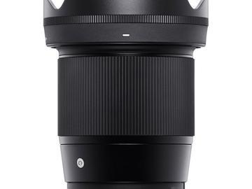 Rentals: Sigma Lens 16mm 1.4 / for Sony APSC / emount