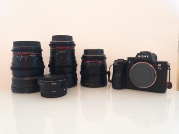 Rentals: FilmMaker Kit - Sony A7III + Cine Lens's