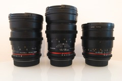 Rentals: Rokinon / Samyang Cine Lens Kit - EF Mount