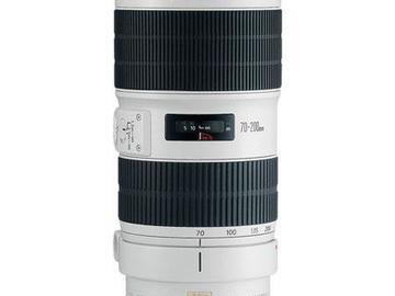Rentals: 70-200m 2.8f Canon L-Series