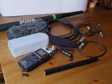 Rentals: Sennheiser MKE600 shotgun mic, Zoom H5, Rode boom pole