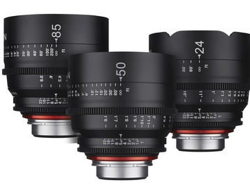 Rentals: Xeen 24/50/85mm Lens Set EF-Mount