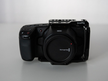 Rentals: Blackmagic Pocket Cinema Camera 6K with half cage