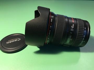 Rentals: CANON EF 1:4,0/ L USM 17 mm-40 mm f/4 EF
