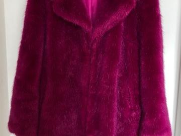 Rentals: Magenta fur coat