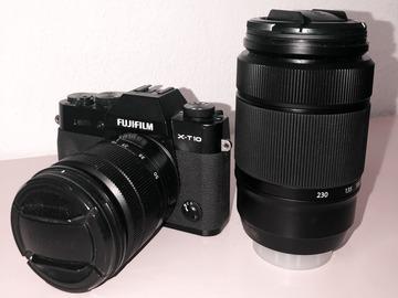 Rentals: Fuji X-T10 Systemkamera  + 16-50mm + 50-230mm