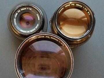 Rentals: Canon FD 3 Lenses Set EF-Mount