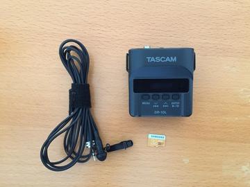 Rentals: Audio RecorderTascam DR-10L, Lavalier-Mikrofon, 32 GB memory Card