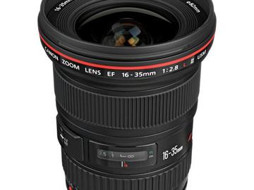 Rentals: Canon EF 16-35mm L Series f2.8 Lens