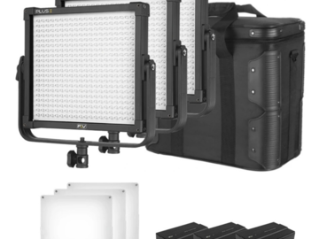 Rentals: 3er Set Bi-Color LED 55W (ink. Stativen, Richtgitter, Frost)