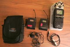 Rentals: Zoom H5 recorder + Sennheiser ew100 G2 radio mic set