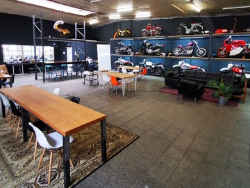 Studio/Spaces: Workshop & event space in Motorcycle Community Garage