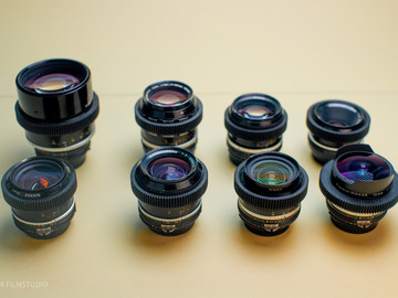 Rentals: Nikon AI/AIS  F-Mount 8 Lenses Kit (EF Adapter available)