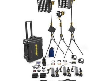 Rentals: 3 Lights Kit | 90w Bi-Color DLED7-BI Turbo Focusing LED Lights