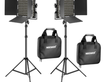 Rentals: Kit Neewer 2x LEDs + 2x Light tripod