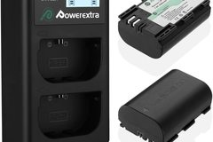 Rentals: Powerextra LP-E6 Battery 2-Pack with a Double Charger