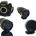 Rentals: Nikon F4 SLR camera/w battery grip+lenses: 28-85mm/50mm/80-200mm