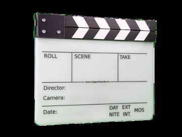Rentals: Filmklappe - groß/weiß