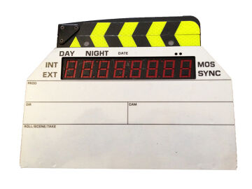 Rentals: Ambient Masterslate ACD 301 Mark III Timecode Clapperboard