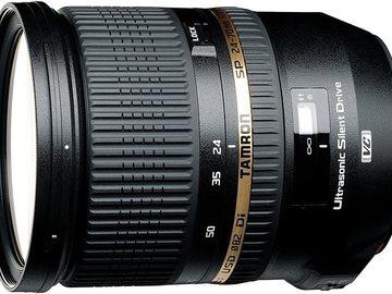 Rentals: Tamron 24-70mm F/2,8 Weitwinkelobjektiv mit USD-Motor und Spritzw