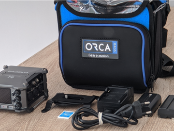 Rentals: Zoom F6 32 Bit Float Recorder, Orca Bag, 32gb SD, Battery Pack