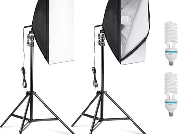 Rentals: 2x Photography Softbox Lights 50x70cm