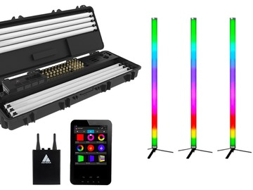 Rentals: 6x Astera AX1 Tube Lights 6er Set inkl. Case & Tablet