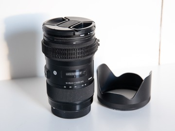 Rentals: Sigma 18-35 mm F1,8 DC HSM Art - Canon EOS EF - with Focus Gears