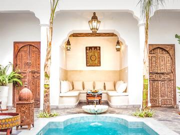 Studio / Räumlichkeiten: Traditional and authentic Moroccan riad in Marrakech medina